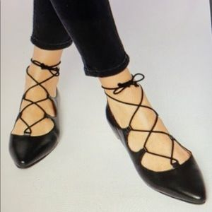 Chic Leather Pointy Toe Flats